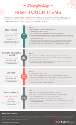 Aldrich Benefits COVID-19 Disinfecting Infographic Page 2